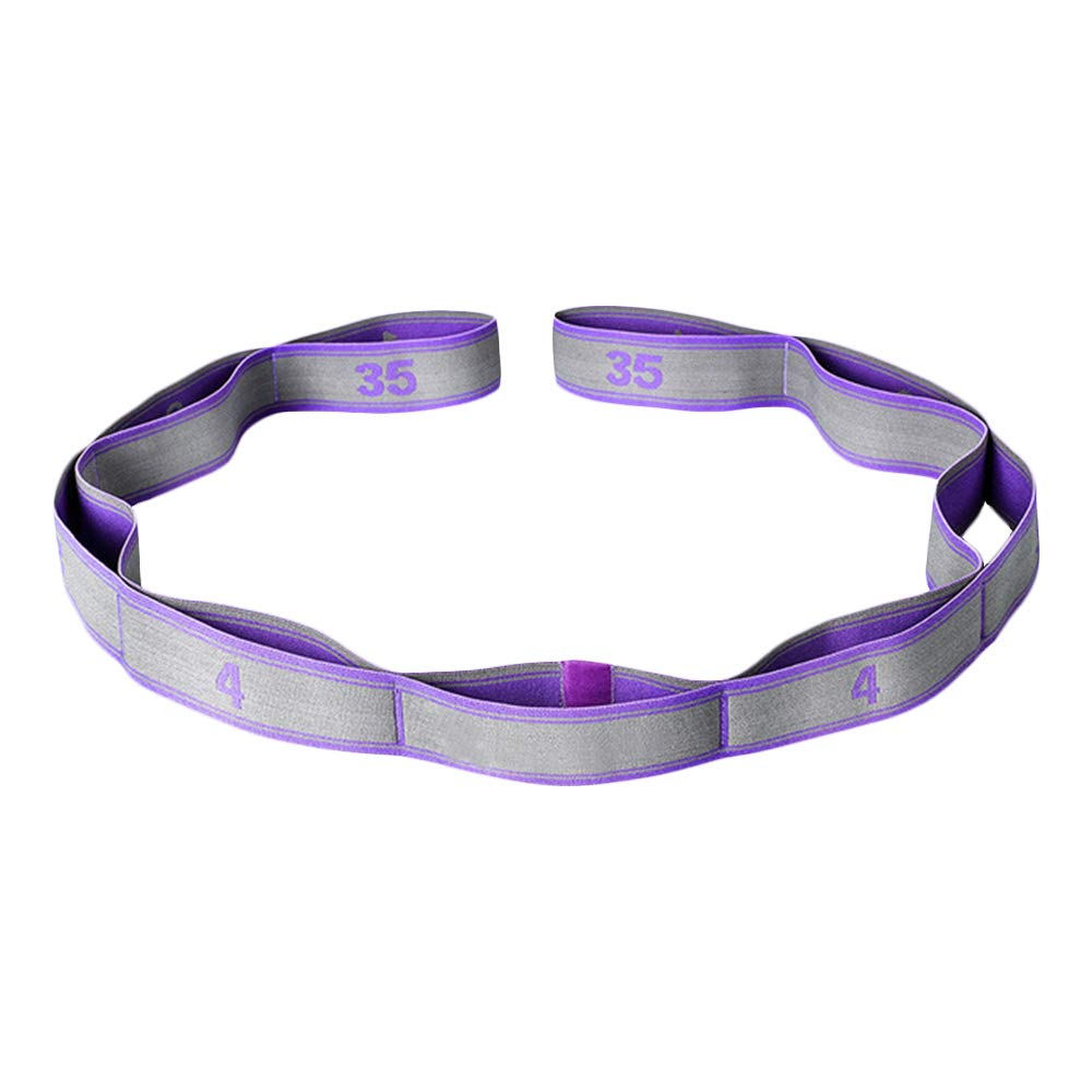 lila Stretchgurt Wankd Gymnastik-Gurt mit 9 Schlaufen Stretch-Strap f/ür mehr Beweglichkeit Yoga-Gurt 105 x 3,6 cm Fitness Pilates Physiotherapie Stretch-Gurt