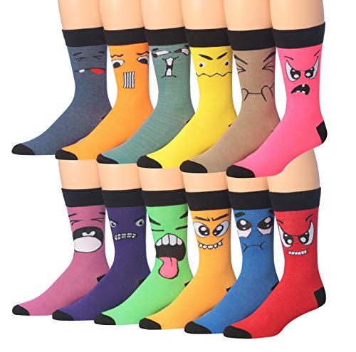 James Fiallo Mens 12 Pack Patterned Dress Socks (M192-12)]()