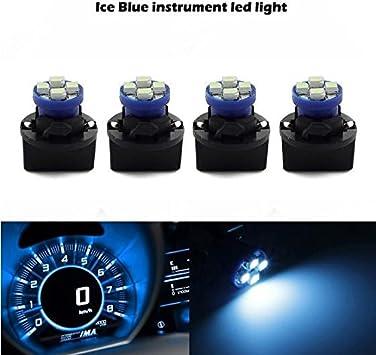 Partsam 4 Pack PC194 Led Instrument Panel Dash Aqua Ice Blue Light Bulb T10 Twist Lock Socket