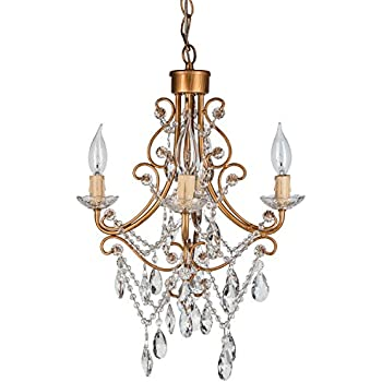 Josephine vintage gold crystal beaded chandelier mini nursery madeleine vintage gold crystal chandelier mini plug in glass pendant 4 light wrought iron aloadofball Gallery
