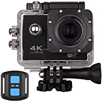 4K Sports Action Camera Wifi with Remote 98In Waterproof Case 2 LCD HD 1080P Video Extreme Underwater Sport Cam Helmet Digital Camcorder for Biking Diving Motorcycle Drift With Mount Accessories