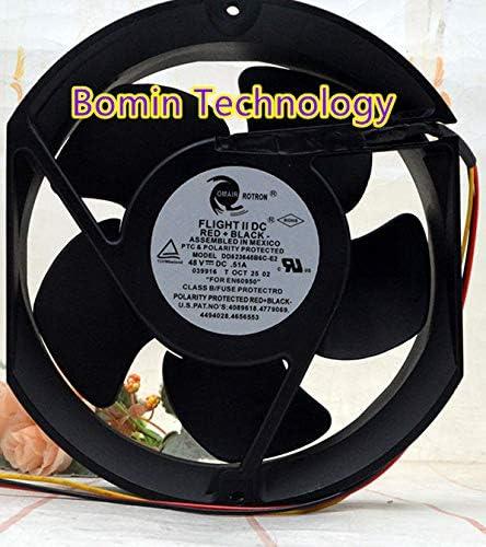 Bomin Technology for Commroton 48V 0.51A 17251 DD523648B6C-E2 17CM Metal Telecom Cabinet Fan