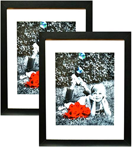 11x14 Inch Picture Frame Black  - HIGH DEFINITION GLASS FRON