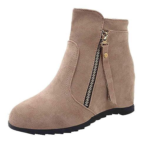 Ankle Boots Femme Bottines Chelsea Talon Interieur Chaussure