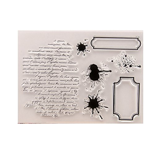 Abicial Words DIY Silicone Clear Stamp Cling Seal Scrapbook Embossing Album Decor Craft