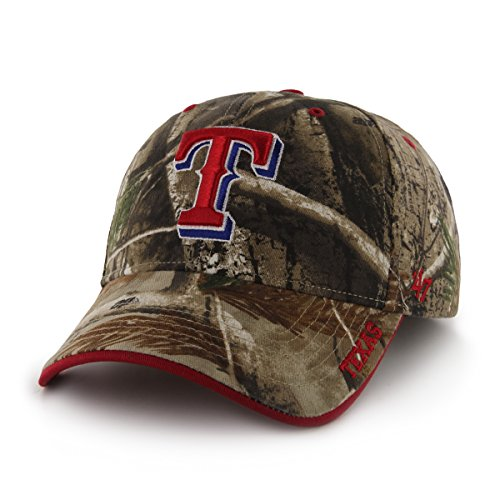 - '47 MLB Texas Rangers Frost MVP Adjustable Hat, One Size, Realtree Camouflage