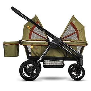 Evenflo Pivot Xplore All-Terrain Double Stroller Wagon, Gypsy Olive Green