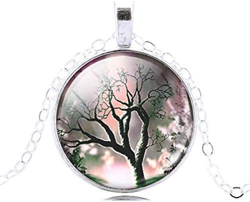 Lampwork Glass Tree of Life Pendant