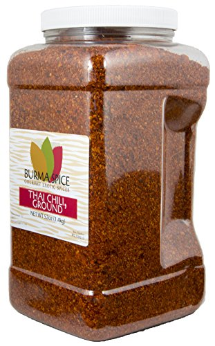 Ground Thai chili l Kosher dried crushed spice l 52 Ounces l ideal for Gochujang and South Asian recipes by Burma Spice (Image #1)