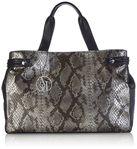 Armani Jeans Shoes & Bags DE B521PW2, Borsa shopper donna Multicolore (Black 12)