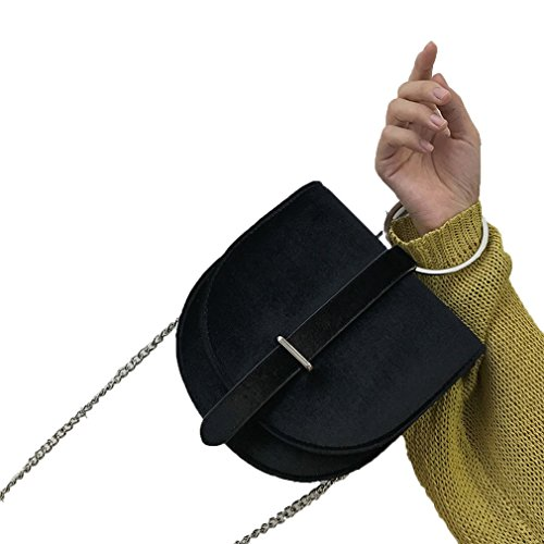 Chain Messenger Fashion Velvet Angels Bags amp;Demons Mini Women Shoulder Handle Handbags Bag Black Ring wqzzvt