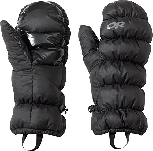 Goose Down Mittens - Outdoor Research Transcendent Mitts, Black, X-Large