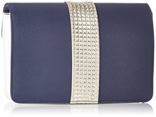 Atelier Caesars - Bolso pequeño CARRY TRIO - Mujer Bleu (Marine/Blanc/Doré)