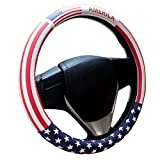 united states flag wheel cover - USA Flag Microfiber Leather Auto Car Steering Wheel Cover for Diameter 38cm(USA Flag)