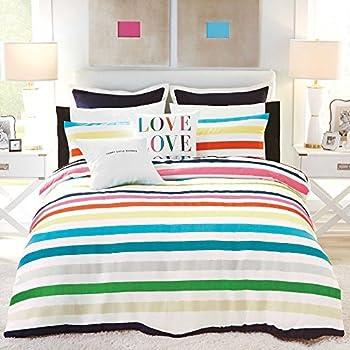 Amazon Com Kate Spade Deco Dot Queen Full Comforter Set