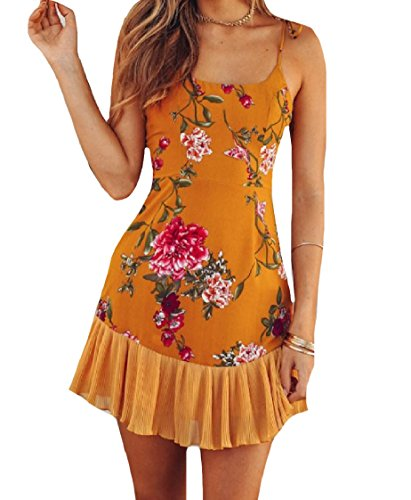 Women Dress Elegant Wear Sling As Floral Coolred Printing Backless Picture Beach T7EdwTxq8