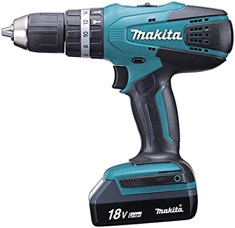 Makita HP457DWE - Taladro Percutor A Bateria 18V Litio-Ion 1