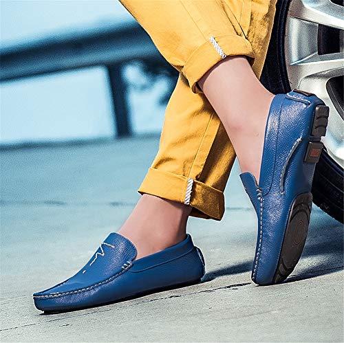 Cuero Ciclismo Plana Loafers Shoes Suela Hombre otoño Conducción Negocios blue Casuales Zapatos Para fei Lazy Suave 36 ons De Slip Formal Gpf Primavera amp; TqOf1w0n