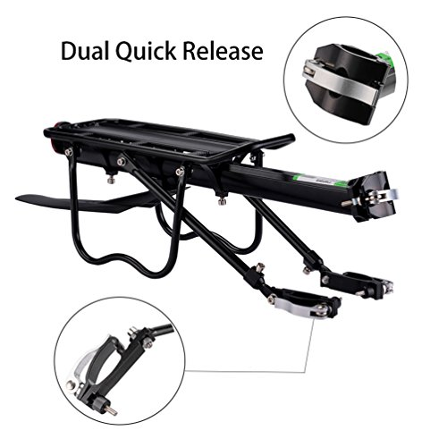 RockBros Bicycle Cargo Rack Mountain Bike Fender Board Quick Release Carrier Rear Rack Alloy Black by RockBros (Image #1)