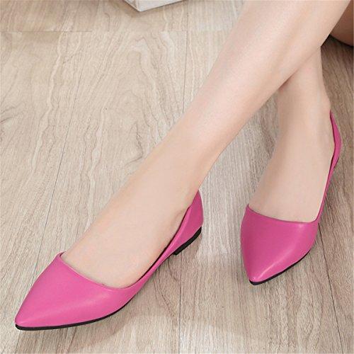 Moda Para Mujer Classic Casual Punta Estrecha Ballet Comfort Soft Slip En Los Zapatos S-7