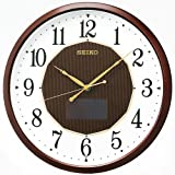 SEIKO CLOCK ( Seiko clock ) hybrid solar radio hanging clock ( tea ) SF241B