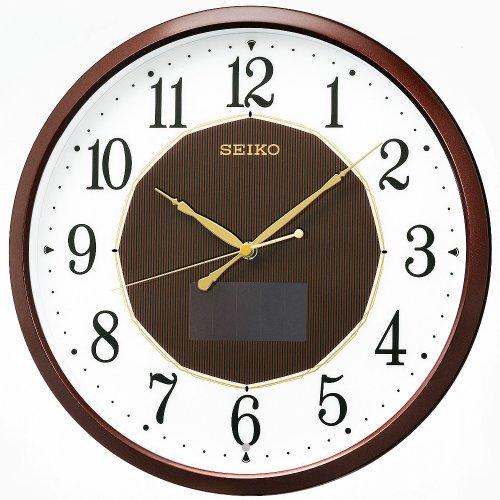 SEIKO CLOCK ( Seiko clock ) hybrid solar radio hanging clock ( tea ) SF241B by Seiko