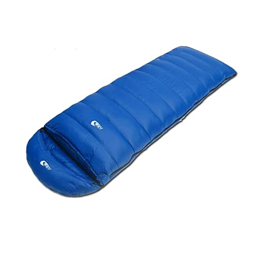 Saco de dormir ultraligero de pluma de ganso, para acampar al aire ...