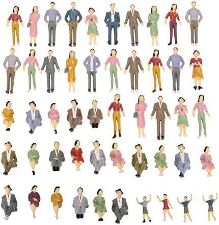 20 unbemaltes Modell Grundriss Zug Menschen Figuren 1:30 G Maßstab Spaß