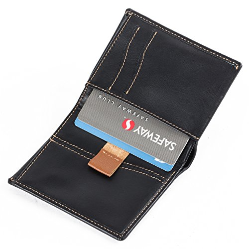 Gentle Pocket Eco Slim Card Leather SD with Men's RFID Wallet Black Wallet friendly Coin Leather Slim Slot Italian IqAxw0BOn
