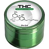 Black Leaf Alugrinder THC 50mm 4teilig grün Magnetverschluss Grinder