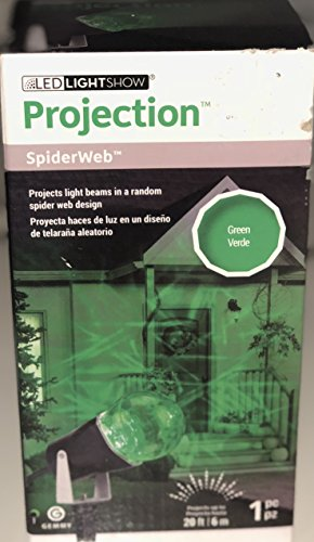 Lightshow Gemmy LED Projection SpiderWeb in Green -