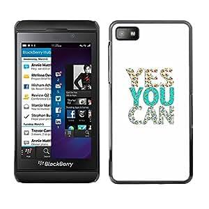 TopCaseStore / la caja del caucho duro de la cubierta de protección de la piel - President Glitter Teal White Silver - Blackberry Z10