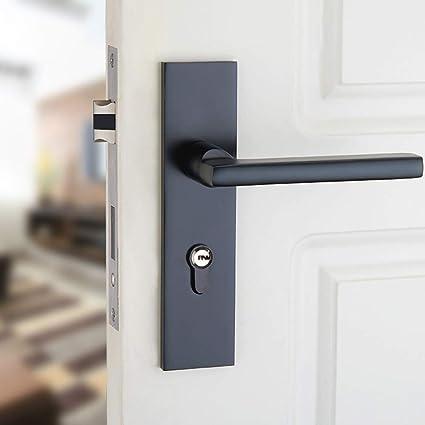 ZHH Cerradura de puerta para dormitorio con cerradura de madera para habitación Cerradura de puerta simple