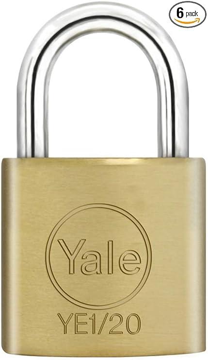 Pack de 2 cerraduras 20 mm, lat/ón Yale Locks YALYE1202PK