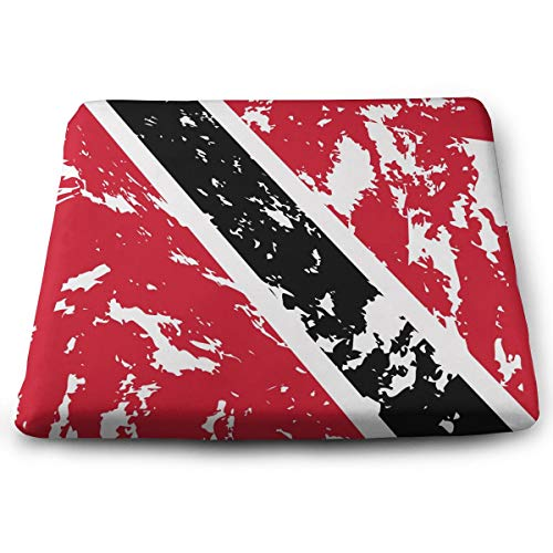 Comfort Support Memory Foam Seat Cushion Pad Sit Cushion, Comfortable Home Office Chair Seat Cushion Pad for Relief Lumbar Muscles Cushion (Trinidad and Tobago Flag) ()