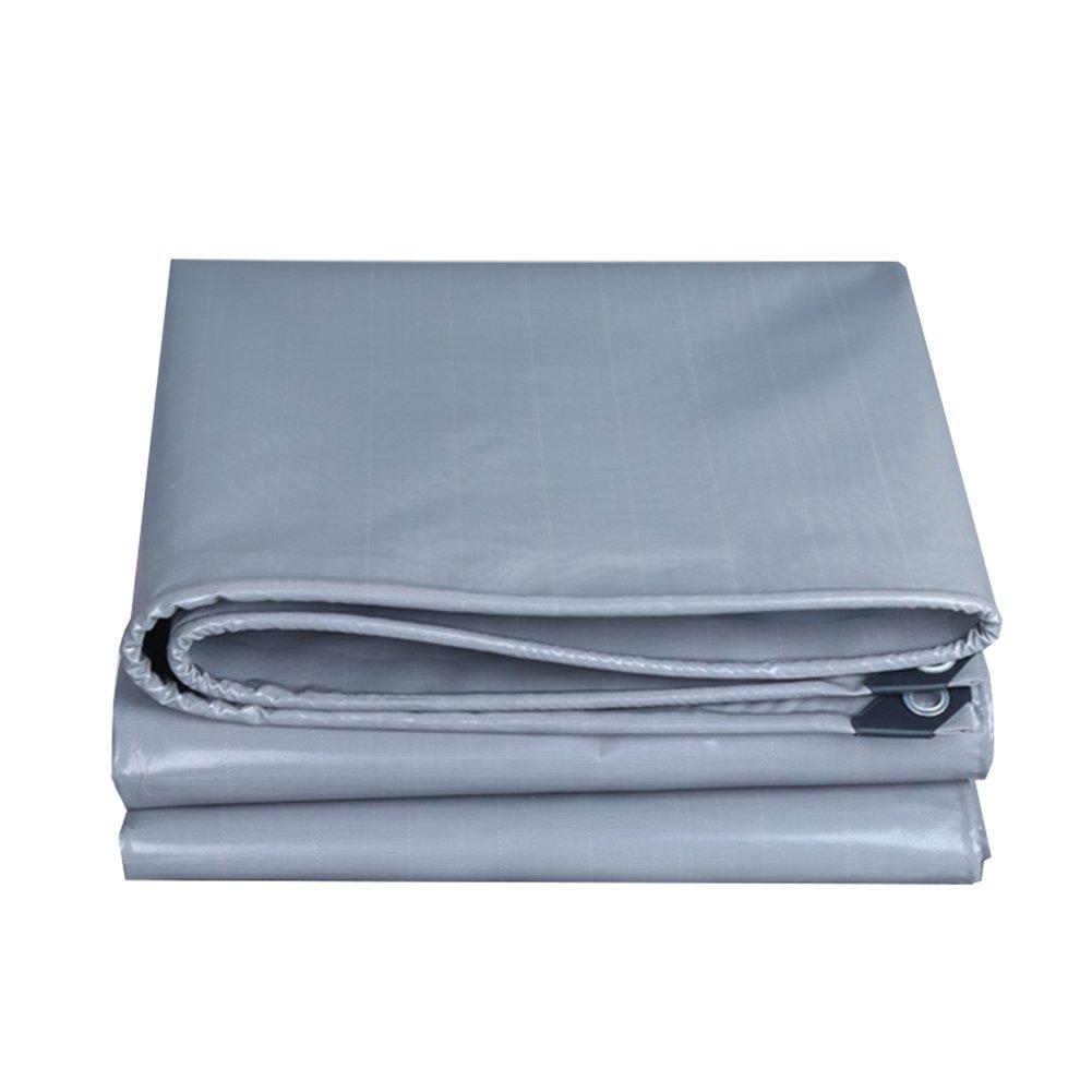 CHAOXIANG オーニング 厚い 両面 防水 日焼け止め 耐寒性 耐摩耗性 防塵の 耐食性 耐引裂性 軽量 PVC、 グレー、 550g/m 2、 厚さ 0.45mm、 19サイズ (色 : グレー, サイズ さいず : 4×7m) B07DBNTN41 4×7m|グレー グレー 4×7m
