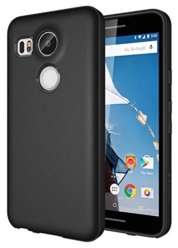 Diztronic Nexus 5X Case Full Matte Slim-Fit Flexible TPU Case (Revision 2) for LG Nexus 5X (2015) - Black - (N5X-FM-BLK-R) (Best Lg Nexus 5x Case)