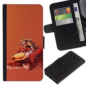 KLONGSHOP // Tirón de la caja Cartera de cuero con ranuras para tarjetas - Zeldo - Samsung Galaxy S3 III I9300 //