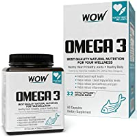 WOW Omega-3 Fish Oil 1000 mg Triple Strength 550mg EPA 350mg