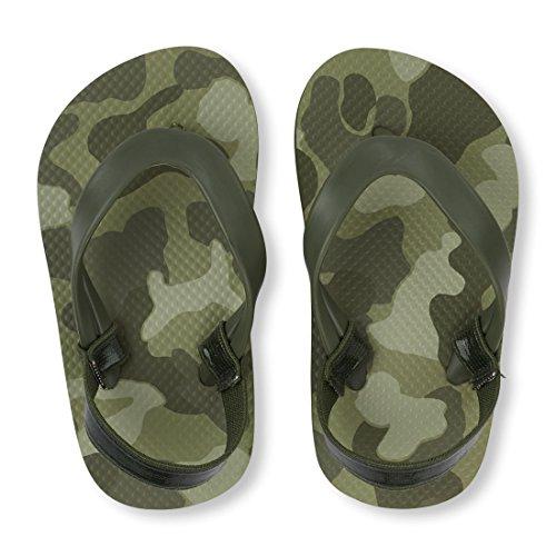 The Children's Place Boys' E TB FF Flat Sandal, Camo, TDDLR10-11 Medium US Infant
