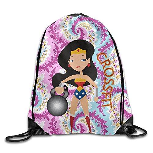 Creative Design Wonder Woman CrossFit Drawstring Backpack Sport Bag For Men And Women