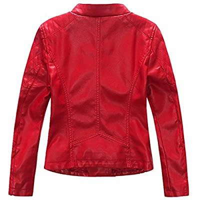 LJYH Girls'Faux Leather Quilted Shoulder Motorcycle Jacket at Women's Coats Shop