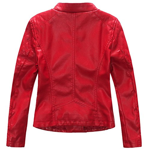 9dadecfbffef Jual LJYH Girls Faux Leather Quilted Shoulder Motorcycle Jacket ...