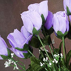 Efavormart 84 Artificial Buds Roses for DIY Wedding Bouquets Centerpieces Arrangements Party Home Decoration Supply - Lavender 3