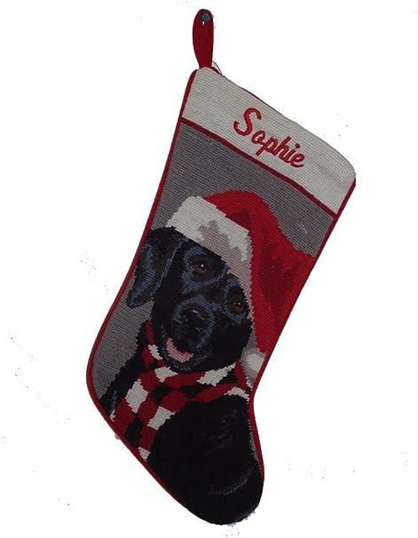 Black Lab Black Lab Dog Stocking monogrammed Hearth Hound stocking Christmas stocking Personalized Christmas Stocking Lab dog stocking