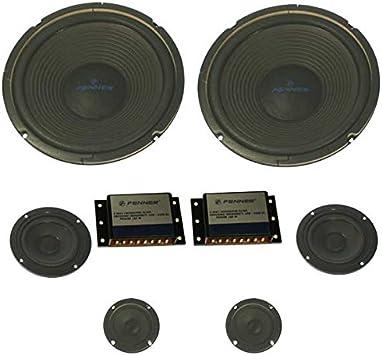 FENNER FE-083 N - Pack de Altavoces para Coche de 300 W (3 ...
