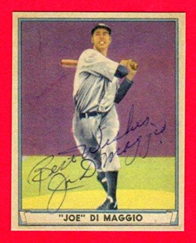 Joe DiMaggio 1941 Play Ball Baseball Reprint Card ***56 Game Hitting Streak Season*** (w/Facsimile Signature on front of card) - Dimaggio Cards Joe Baseball
