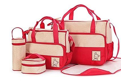 SORA H® kits Bolsa de Mama Para Bebe Biberon Bolso/Bolsa/Bolsillo Maternal Bebé para carro carrito biberón colchoneta comida pañal de color azul