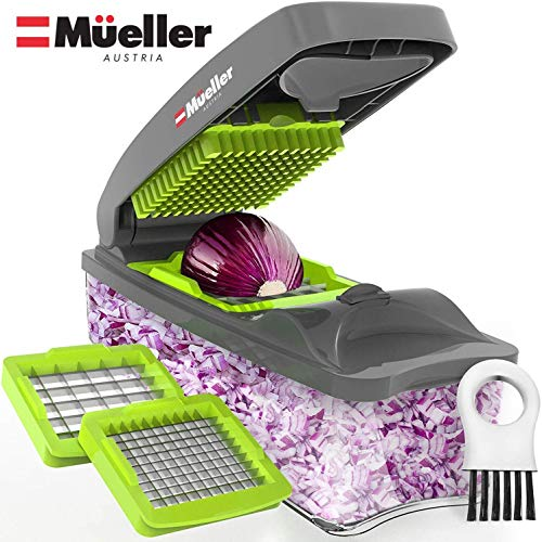 Mueller Onion Chopper Pro Vegetable Chopper - Strongest - NO MORE TEARS 30% Heavier Duty Multi Vegetable-Fruit-Cheese-Onion Chopper-Dicer-Kitchen Cutter (Best Processor For Pro Tools)
