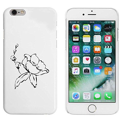 Weiß 'Schöne Blume' Hülle für iPhone 6 u. 6s (MC00090451)